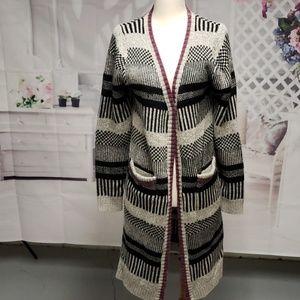 Sweaters - LONG BLK,GREY,PURPLE CARDIGAN
